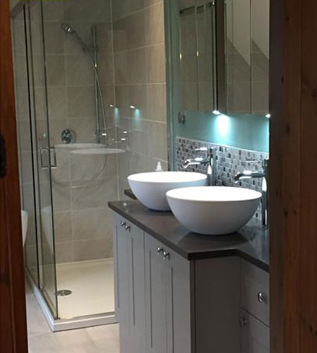 Complete New Bathroom - room re-designed and new equipment supplied and fitted