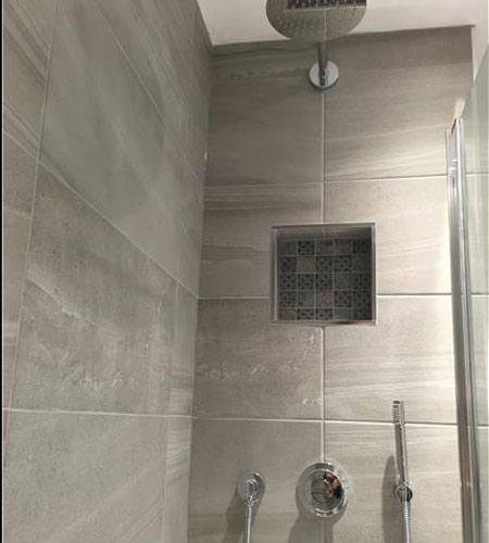 Remove original bathroom & refit with a walk in shower - Reigate